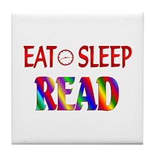 Eat Sleep Read Tile Coaster