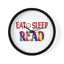 Eat Sleep Read Wall Clock