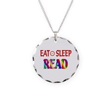 Eat Sleep Read Necklace Circle Charm
