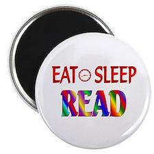 """Eat Sleep Read 2.25"""" Magnet (10 pack)"""