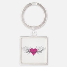 Rebekah-angel-wings.png Square Keychain