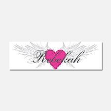 Rebekah-angel-wings.png Car Magnet 10 x 3