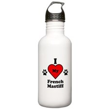 I Heart My French Mastiff Sports Water Bottle