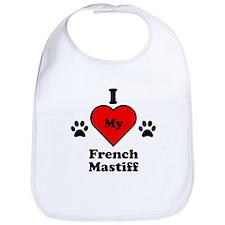 I Heart My French Mastiff Bib