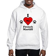 I Heart My French Mastiff Hoodie