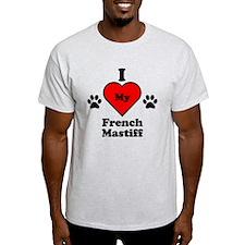 I Heart My French Mastiff T-Shirt