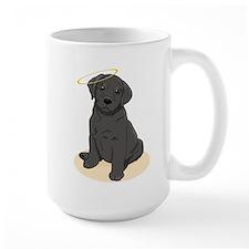 Black Labrador Retriever Angel Mug