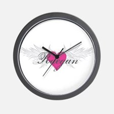 Raegan-angel-wings.png Wall Clock