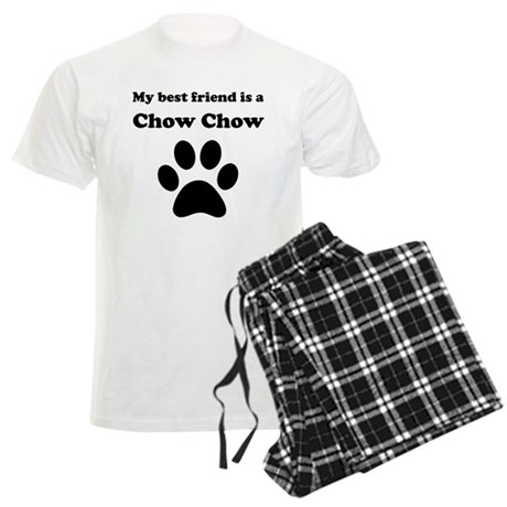 Chow Chow Best Friend Men's Light Pajamas