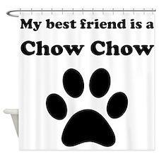 Chow Chow Best Friend Shower Curtain