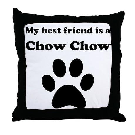 Chow Chow Best Friend Throw Pillow