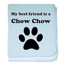 Chow Chow Best Friend baby blanket