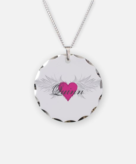 Quinn-angel-wings.png Necklace Circle Charm
