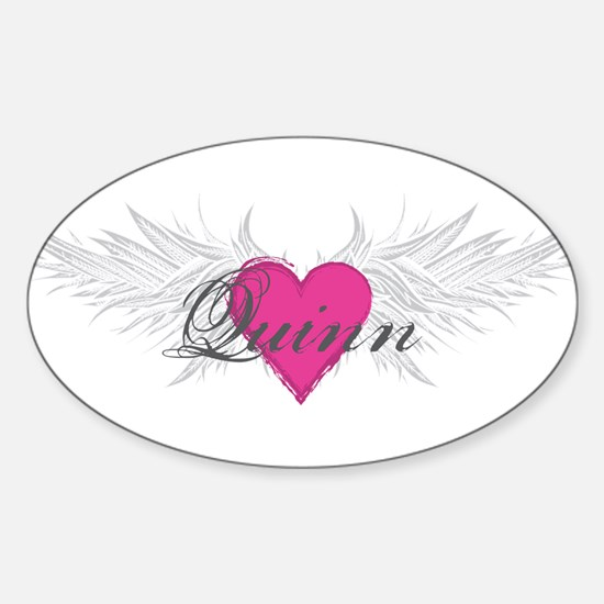 Quinn-angel-wings.png Sticker (Oval)