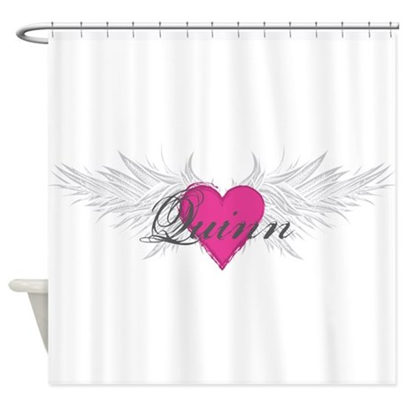 Quinn-angel-wings.png Shower Curtain