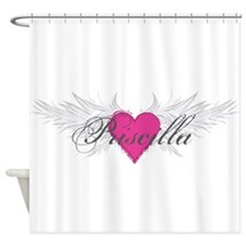 Priscilla-angel-wings.png Shower Curtain