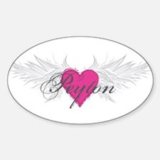 Peyton-angel-wings.png Sticker (Oval)