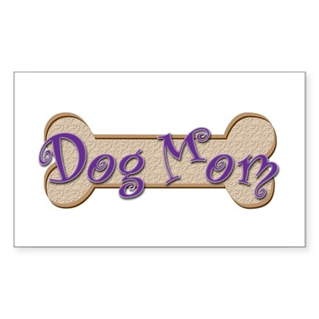 Dog Mom Rectangle Sticker