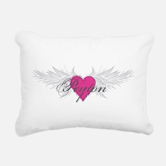 Peyton-angel-wings.png Rectangular Canvas Pillow