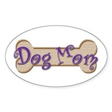 Dog Mom Oval Bumper Stickers