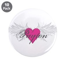 "Payton-angel-wings.png 3.5"" Button (10 pack)"