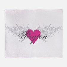 Payton-angel-wings.png Throw Blanket