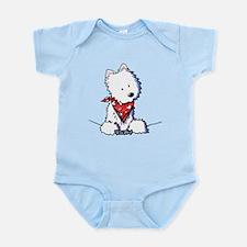 Pocket Westie Valentine Infant Bodysuit