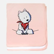 Pocket Westie Valentine baby blanket