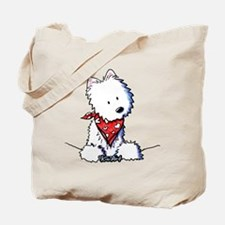 Pocket Westie Valentine Tote Bag
