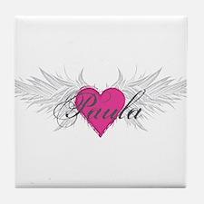 Paula-angel-wings.png Tile Coaster