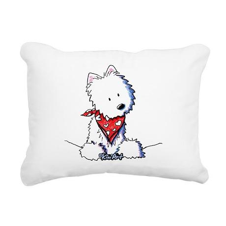 Pocket Westie Valentine Rectangular Canvas Pillow