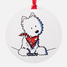 Pocket Westie Valentine Ornament