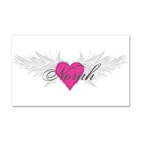 Norah-angel-wings.png Car Magnet 20 x 12