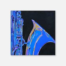 Saxophone Blues Art Rectangle Sticker