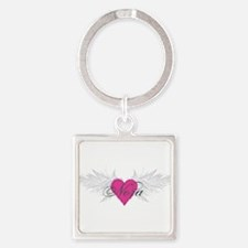 Nora-angel-wings.png Square Keychain