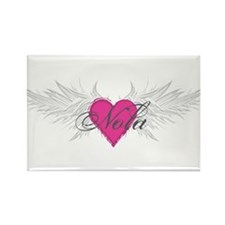 Nola-angel-wings.png Rectangle Magnet (100 pack)