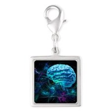 Brain research, conceptual artwork - Silver Square