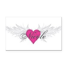 Nicole-angel-wings.png Rectangle Car Magnet