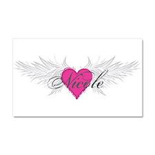 Nicole-angel-wings.png Car Magnet 20 x 12
