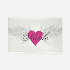 Nicole-angel-wings.png Rectangle Magnet