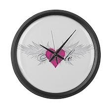 Nicole-angel-wings.png Large Wall Clock