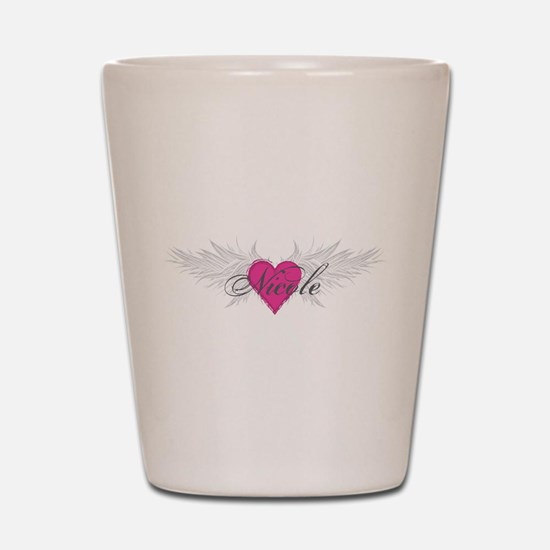 Nicole-angel-wings.png Shot Glass