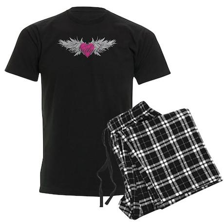 Nathalie-angel-wings.png Men's Dark Pajamas