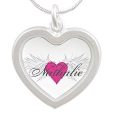 Nathalie-angel-wings.png Silver Heart Necklace