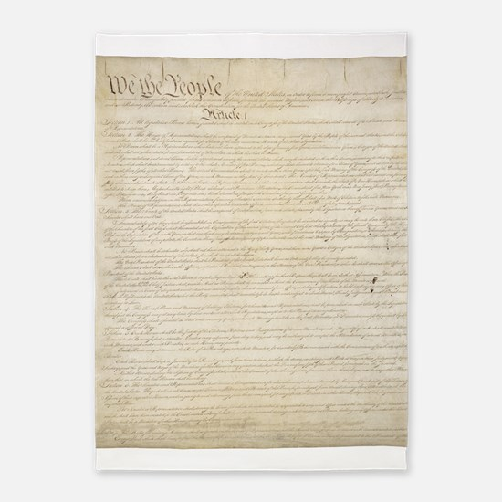 The Us Constitution 5'x7'Area Rug