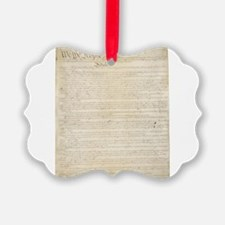 The Us Constitution Ornament