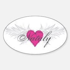 Nataly-angel-wings.png Sticker (Oval)