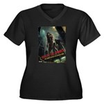 Rise of the Zombies Women's Plus Size V-Neck Dark