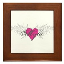 Myla-angel-wings.png Framed Tile
