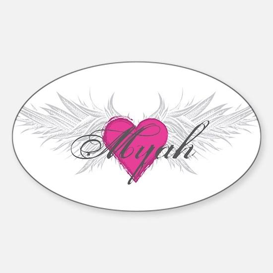 Myah-angel-wings.png Sticker (Oval)